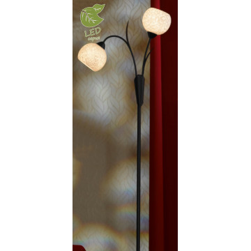 Торшер Lussole Loft Bagheria GRLSF-6295-02, IP21, 2xE14x6W, коричневый, белый, металл, стекло