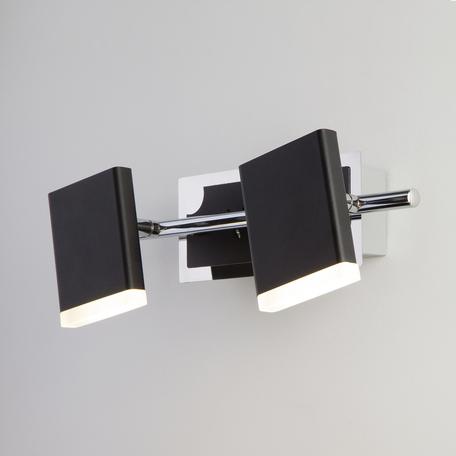 Настенный светодиодный светильник с регулировкой направления света Eurosvet Collin 20000/2 черный 10W, LED 10W 4200K 500lm, черный, металл