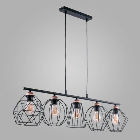 Подвесной светильник TK Lighting 1649 Galaxy, 5xE27x60W, черный, металл