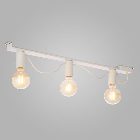 Потолочный светильник TK Lighting 2839 Mossa, 3xE27x60W, белый, металл