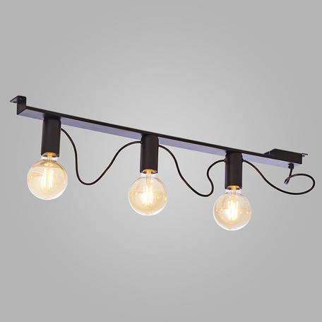 Потолочный светильник TK Lighting 2843 Mossa, 3xE27x60W, черный, металл