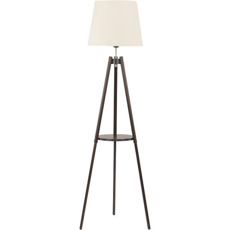 Торшер со столиком TK Lighting 1092 lozano 1, 1xE27x60W, коричневый, белый, дерево, текстиль