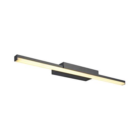 Настенный светодиодный светильник для подсветки зеркал SLV GLENOS 60 WL-1 146800, LED 3000K, черный
