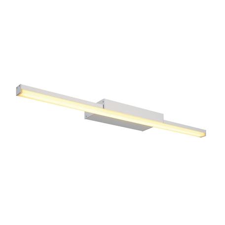 Настенный светодиодный светильник для подсветки зеркал SLV GLENOS 60 WL-1 146804, LED 3000K, серый