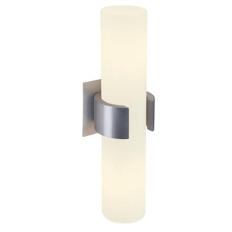 Настенный светильник для подсветки зеркал SLV DENA 30 147529, 2xE14x40W, алюминий, белый