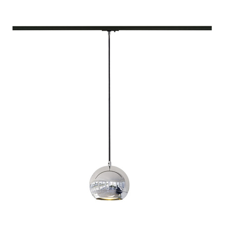 Подвесной светильник для шинной системы SLV 1PHASE-TRACK, LIGHT EYE® 150 PD 143620, 1xGU10x75W, хром