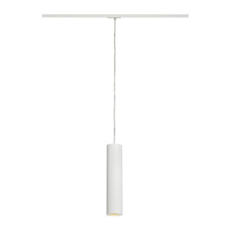 Подвесной светильник для шинной системы SLV 1PHASE-TRACK, ENOLA_B PD-1 143961, 1xGU10x50W, белый, металл