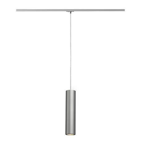 Подвесной светильник для шинной системы SLV 1PHASE-TRACK, ENOLA_B PD-1 143964, 1xGU10x50W, серый, металл