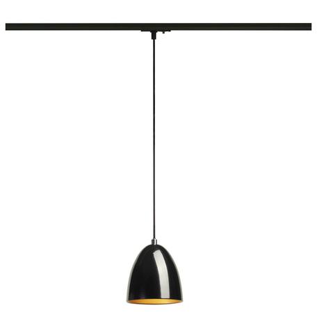 Подвесной светильник для шинной системы SLV 1PHASE-TRACK, PARA CONE 14 143990, 1xGU10x35W, черный