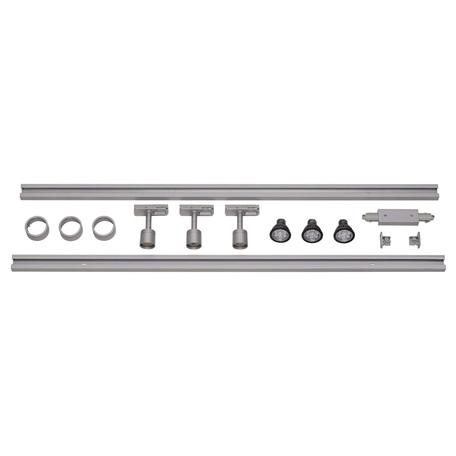 Шинная система освещения SLV 1PHASE-TRACK 143194, 3xGU10x4,3W, серый, металл