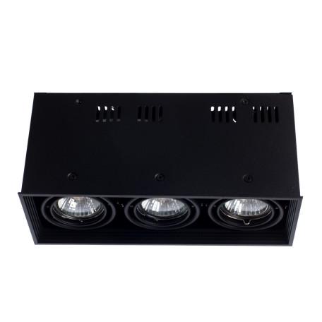 Потолочный светильник Arte Lamp Cardani Piccolo A5942PL-3BK, 3xGU10x50W, черный, металл