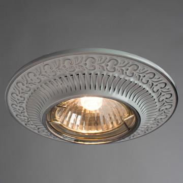 Встраиваемый светильник Arte Lamp Instyle Occhio A5280PL-1WA, 1xGU10x50W, белый, серебро, металл - миниатюра 2