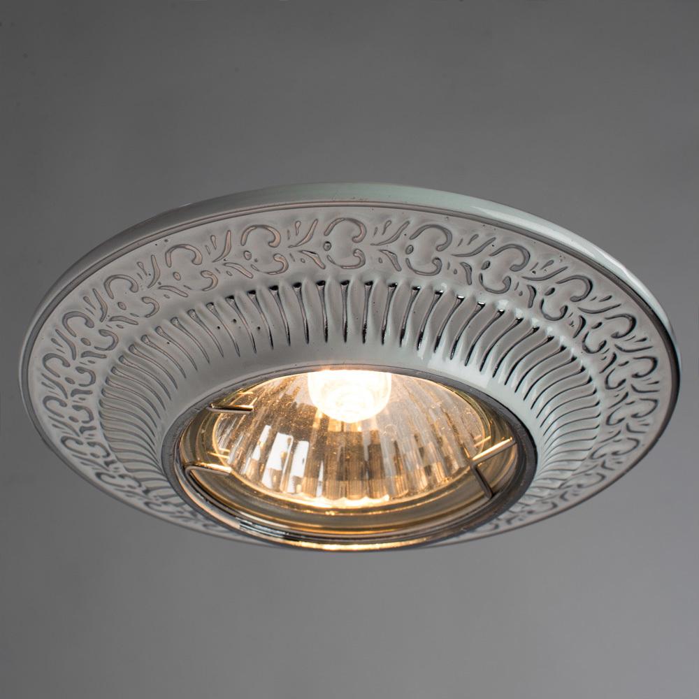 Встраиваемый светильник Arte Lamp Instyle Occhio A5280PL-1WA, 1xGU10x50W, белый, серебро, металл - фото 2
