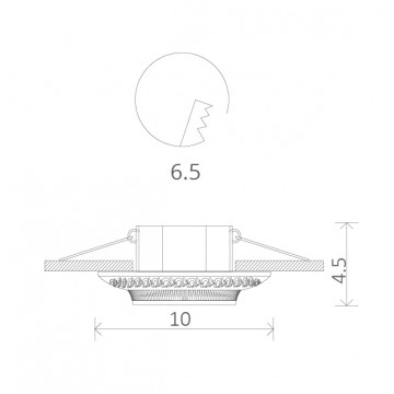 Схема с размерами Arte Lamp Instyle A5280PL-1WA