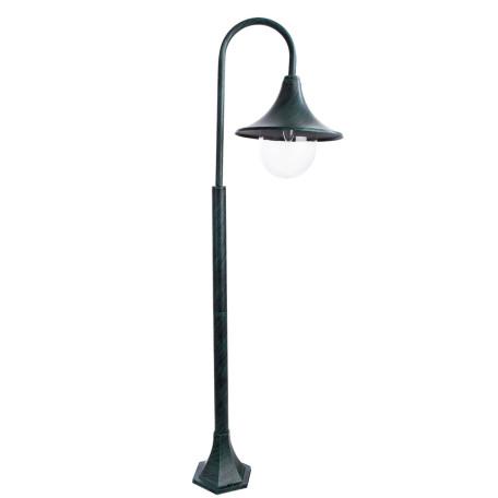 Уличный фонарь Arte Lamp Malaga A1086PA-1BG, IP44, 1xE27x75W, бирюзовый, прозрачный, металл, металл с пластиком
