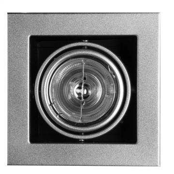 Встраиваемый светильник Arte Lamp Instyle Cardani Medio A5930PL-1SI, 1xG53AR111x50W, серебро, черный, металл