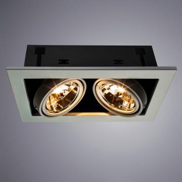 Встраиваемый светильник Arte Lamp Instyle Cardani Medio A5930PL-2WH, 2xG53AR111x50W, белый, черный, металл - миниатюра 1