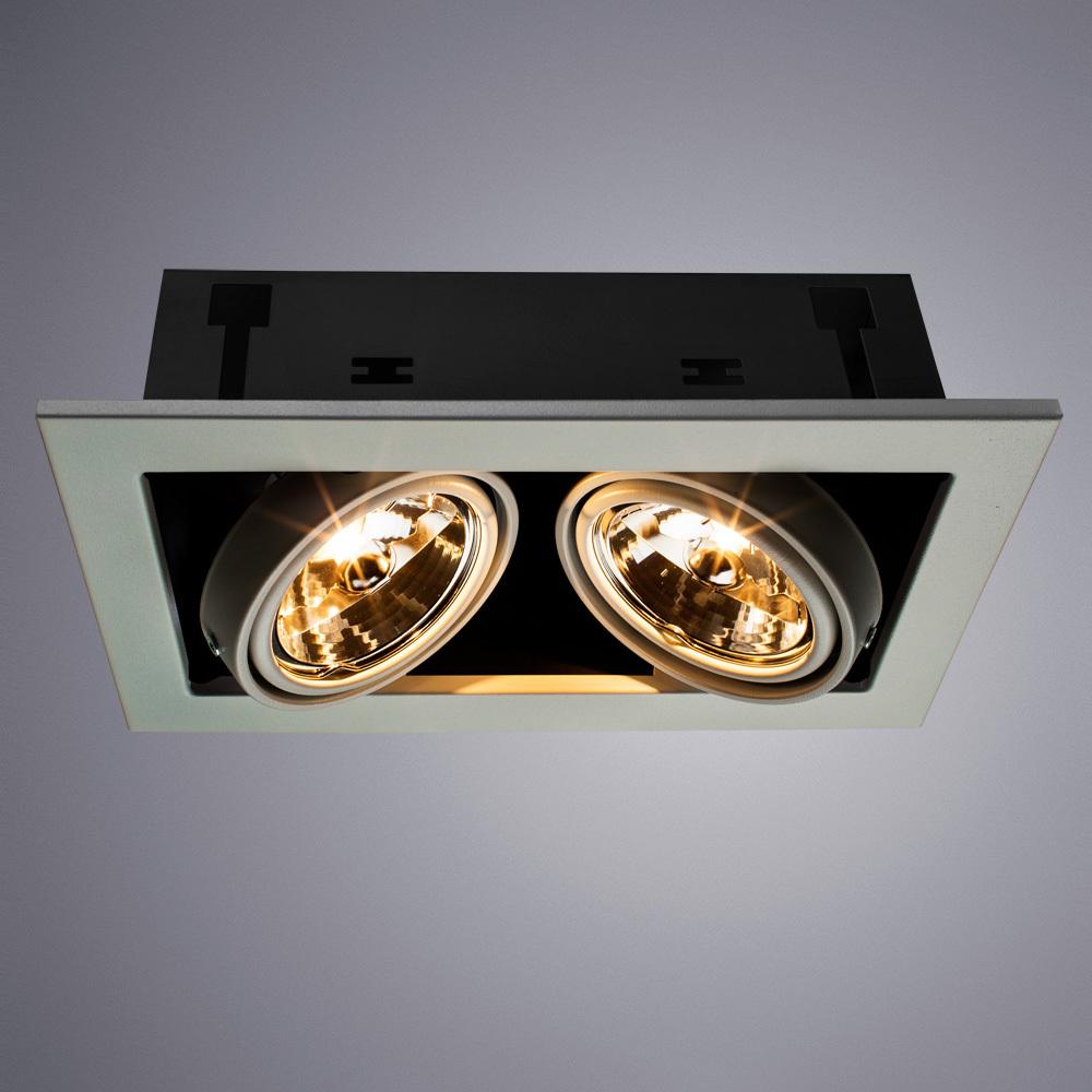 Встраиваемый светильник Arte Lamp Instyle Cardani Medio A5930PL-2WH, 2xG53AR111x50W, белый, черный, металл - фото 1