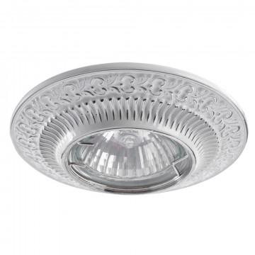 Встраиваемый светильник Arte Lamp Instyle Occhio A5280PL-1WA, 1xGU10x50W, белый, серебро, металл - миниатюра 1
