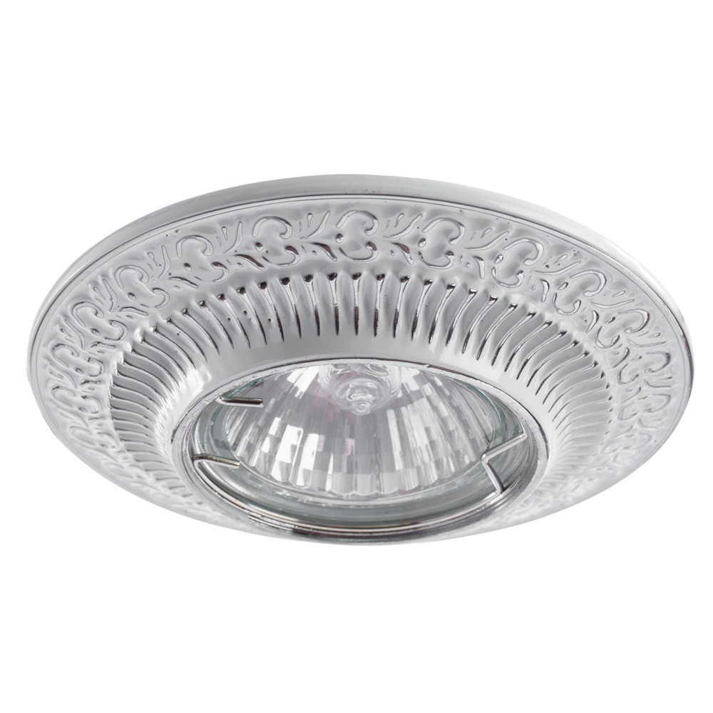 Встраиваемый светильник Arte Lamp Instyle Occhio A5280PL-1WA, 1xGU10x50W, белый, серебро, металл - фото 1