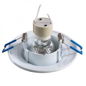 Встраиваемый светильник Arte Lamp Instyle Occhio A5280PL-1WA, 1xGU10x50W, белый, серебро, металл - миниатюра 3
