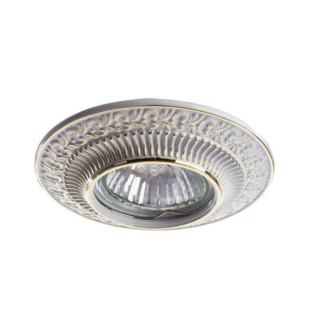Встраиваемый светильник Arte Lamp Instyle Occhio A5280PL-1WG, 1xGU10x50W, белый, золото, металл