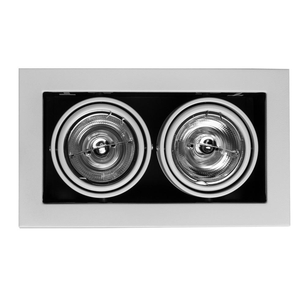 Встраиваемый светильник Arte Lamp Instyle Cardani Medio A5930PL-2WH, 2xG53AR111x50W, черный, белый, металл - фото 1