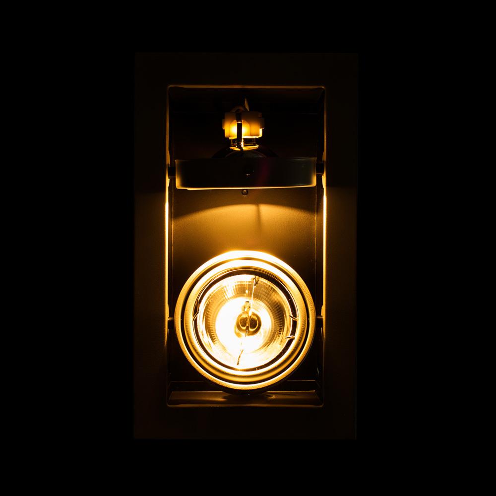 Встраиваемый светильник Arte Lamp Instyle Cardani Medio A5930PL-2WH, 2xG53AR111x50W, черный, белый, металл - фото 3
