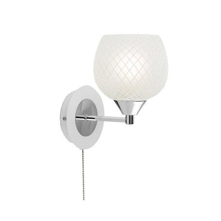 Бра Citilux Сюзи CL171311, 1xE27x75W, белый, хром, металл, стекло, текстиль - миниатюра 1