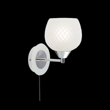 Бра Citilux Сюзи CL171311, 1xE27x75W, белый, хром, металл, стекло, текстиль - миниатюра 2