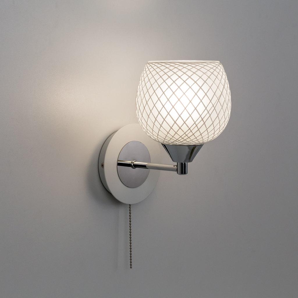 Бра Citilux Сюзи CL171311, 1xE27x75W, хром, белый, металл, стекло - фото 3