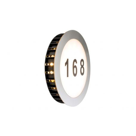Светодиодный светильник-указатель Paulmann Special  Line House Number Sun 93769, IP44, LED 5,6W, сталь, металл с пластиком
