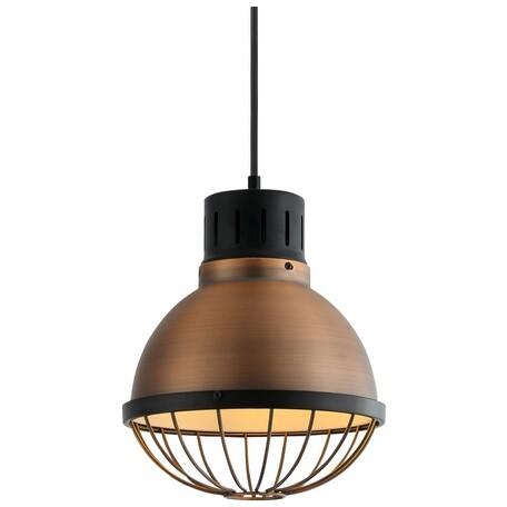 Подвесной светильник Velante 389-506-01, 1xE27x40W, черный, медь, металл