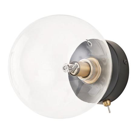 Настенный светильник Arte Lamp Vincent A7790AP-1BK, 1xG9x40W, черный, прозрачный, металл, стекло