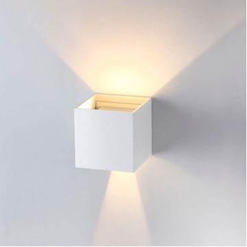 Настенный светодиодный светильник Novotech Calle 357518, IP54, LED 6W 3000K 365lm, белый, металл - миниатюра 3