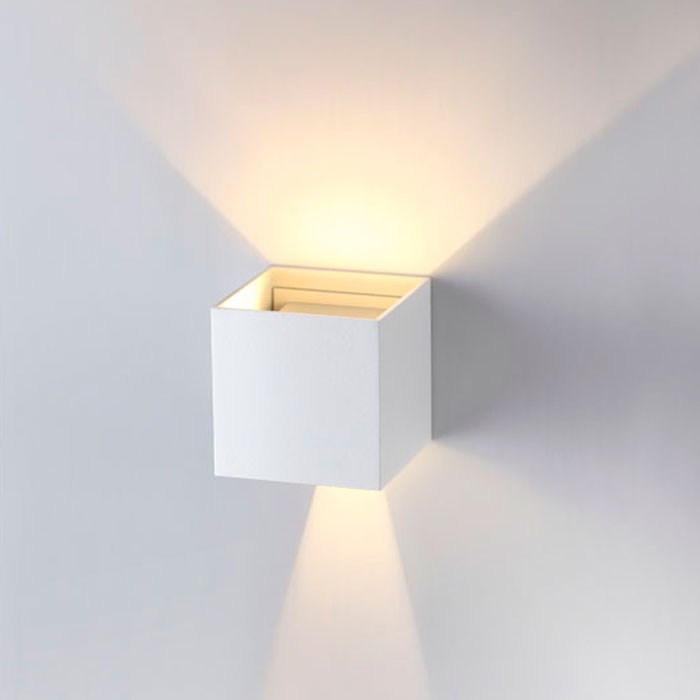 Настенный светодиодный светильник Novotech Calle 357518, IP54, LED 6W 3000K 365lm, белый, металл - фото 3