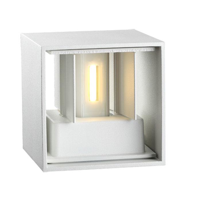 Настенный светодиодный светильник Novotech Calle 357518, IP54, LED 6W 3000K 365lm, белый, металл - фото 5