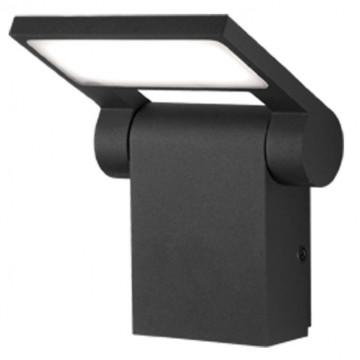 Настенный светодиодный светильник с регулировкой направления света Novotech Street Roca 357521, IP54, LED 10W 3000K 600lm, темно-серый, металл, металл с пластиком, пластик