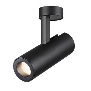 Потолочный светодиодный светильник с регулировкой направления света Novotech Tubo 357474, LED 12W 3000K (теплый), черный, металл