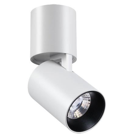 Потолочный светодиодный светильник с регулировкой направления света Novotech Tubo 357470, LED 12W, 3000K (теплый), белый, металл