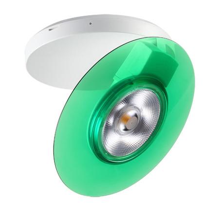 Потолочный светодиодный светильник с регулировкой направления света Novotech Razzo 357478, LED 5W, 3000K (теплый), белый, зеленый, пластик