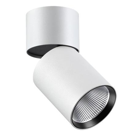 Потолочный светодиодный светильник с регулировкой направления света Novotech Over Tubo 357471, LED 25W 3000K 2000lm, белый, металл