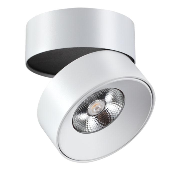 Потолочный светодиодный светильник с регулировкой направления света Novotech Over Tubo 357473, LED 25W 3000K 2000lm, белый, металл - фото 1