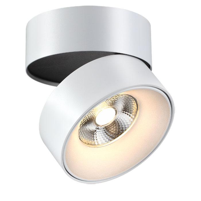 Потолочный светодиодный светильник с регулировкой направления света Novotech Over Tubo 357473, LED 25W 3000K 2000lm, белый, металл - фото 2