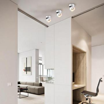 Потолочный светодиодный светильник с регулировкой направления света Novotech Tubo 357473, LED 25W 3000K 2000lm, белый, металл - миниатюра 3