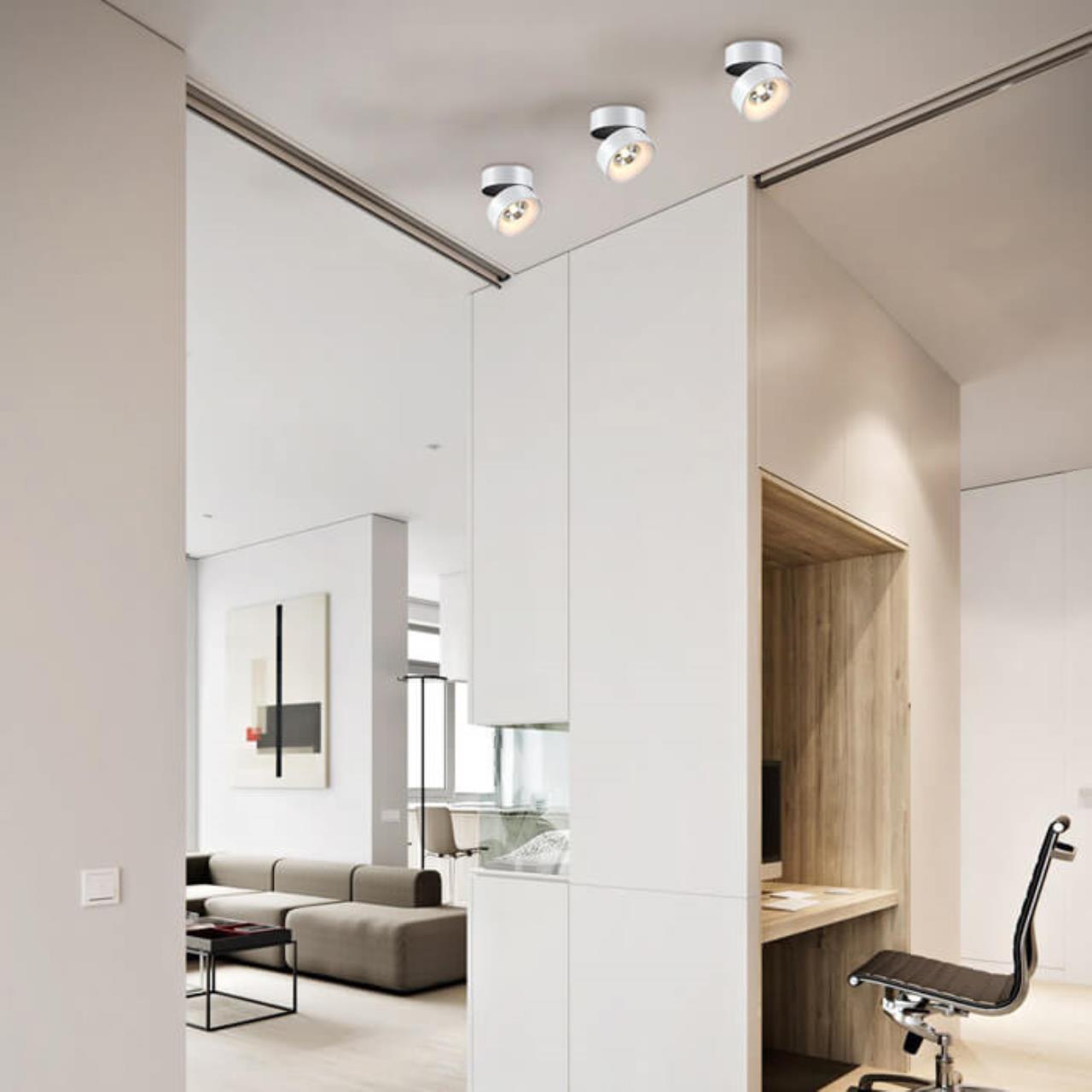 Потолочный светодиодный светильник с регулировкой направления света Novotech Tubo 357473, LED 25W 3000K 2000lm, белый, металл - фото 3