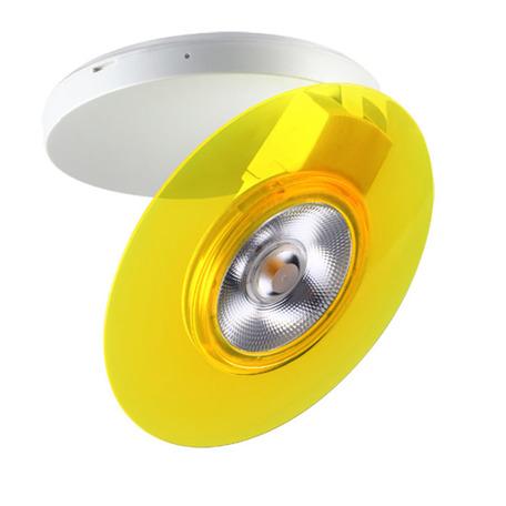 Потолочный светодиодный светильник с регулировкой направления света Novotech Razzo 357476, LED 5W 3000K 400lm, белый, желтый, пластик