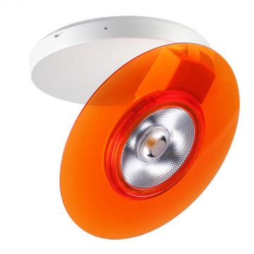 Потолочный светодиодный светильник с регулировкой направления света Novotech Razzo 357477, LED 5W 3000K 400lm, белый, оранжевый, пластик