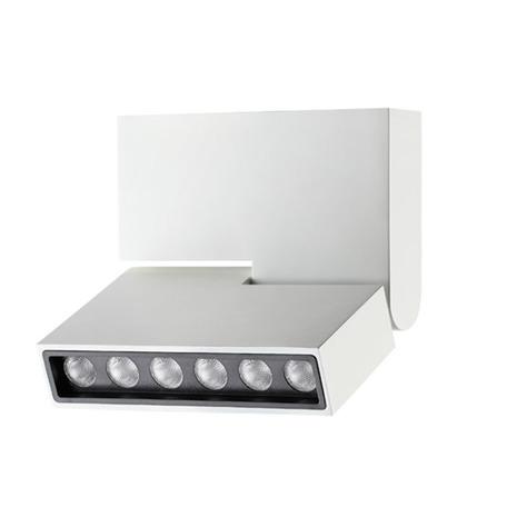 Потолочный светодиодный светильник с регулировкой направления света Novotech Eos 357538, LED 6W 3000K 492lm, белый, черно-белый, металл
