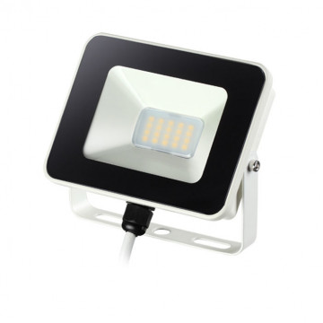 Светодиодный прожектор Novotech Street Armin 357524, IP65, LED 10W 4000K 1100lm, белый, черный с белым, металл, пластик